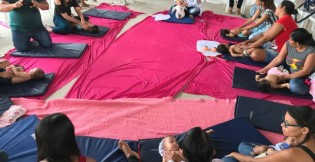 Nutrizes participam de atividades em alusão a Campanha Agosto Lilás