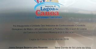 Tainá Veiga inaugura unidade do SESI voltada à indústria do conhecimento